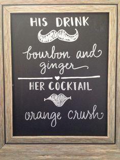 Wedding bar sign idea.