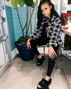 Baddie Outfits Casual, Boujee Outfits, Cute Lazy Outfits, Cute Swag Outfits, Pretty Outfits, Fashion Outfits, Simple Outfits, Winter Outfits, Black Girl Fashion