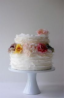 I don't know if this is at all your style, but it's so pretty! Haute couture cake