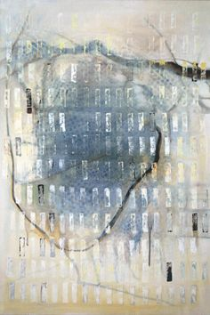 Chiyomi Longo | Sound of the Earth #33 - mixed media on canvas 36in x 24in, 2009 http://www.chiyomilongo.com/paintings.html