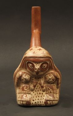 Moche bird faced healer or shaman