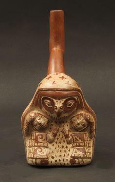 Moche bird faced healer or shaman