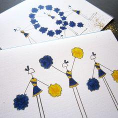 QND Pommers Stationery, Set of 8 Blank Notecards- LOinLONDON® fine paper goods + whimsical design | www.loinlondon.com