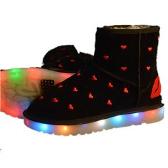 Black Adult Snow Light Up Boots
