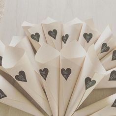 Some of the cute petal cones ready to be filled for @gumnutbaby