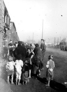 Siedlce, Poland, Jewish deportees boarding a deportation train.
