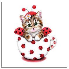 3d diy diamond embroidery cartoon cat mosaic crafts