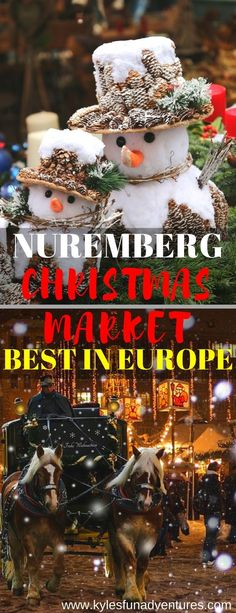 Nuremberg Christmas Market is the best Christmas Market in Europe #christmasmarkets #Europe #chirstmastravel #Germany #travel #christmas