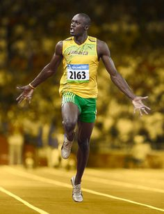 Fastest man on the track, probably the greatest male sprinter athlete of all time, Usain Bolt. Floyd Mayweather, Usain Bolt Pictures, Motogp, Vive Le Sport, Sport Nutrition, Sports Celebrities, Fastest Man, Sport Icon, Sports Figures