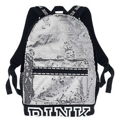 PINK Bling Campus Backpack ($65) ❤ liked on Polyvore featuring bags, backpacks, print, polyester backpack, pocket backpack, laptop rucksack, pink bag and pink backpack