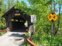 Gold Brook Bridge, Stowe, Vermont - scenic Route 100 in Vermont, USA.