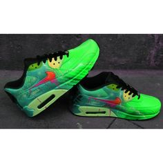 93444a1eaa88 Custom Airbrush Painted Nike Air Max 90 Poison Green Style  UNIKAT   handpainted Sneaker