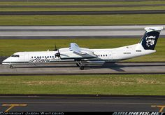 Alaska Airlines (Horizon Air)  De Havilland Canada DHC-8-402Q Dash 8  (airliners.net) Horizon Air, Alaska Airlines, Vintage Air, Civil Aviation, World Pictures, Aircraft Pictures, Air Travel, Spacecraft, Past