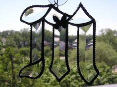 Stained Glass Initial M  Letter M  Beveled