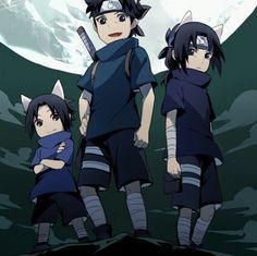 Sasuke, Shisui, Itachi
