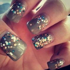 I call these city lights #nails #beauty #nailArt