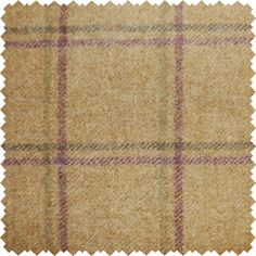 Sanderson Woodford Plaid is the largest design woven on a multi-coloured warp with a different striped pattern in the weft. This style is known as a Madras Check and creates a less formal look than traditional tartans.  Shown here in: Lavender/Moss.