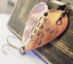 Hooked on You Fishing Lure Custom Men Gift Meaningful Gifts Valentine's Day for Husband Love You for Boyfriend Outdoors Rustic Sports Man on Etsy, $19.00