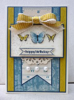 White House Stamping: Vintage butterflies for Mum...