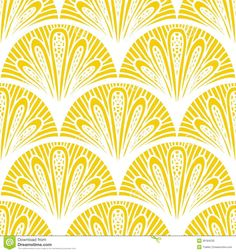 Art Deco Vector Geometric Pattern In Bright Yellow - Download From Over 42 Million High Quality Stock Photos, Images, Vectors. Sign up for FREE today. Image: 36184230