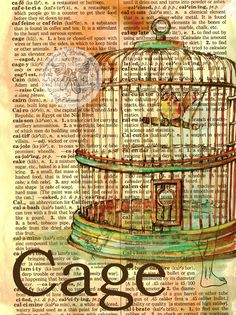 flying shoes art studio: CAGE Source by kflaglerrost art Altered Books, Altered Art, Newspaper Art, Book Page Art, Dictionary Art, Shoe Art, Art Studios, Gouache, Mixed Media Art