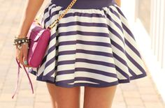 Stripes are the trend for this summer. ⋆ Instyle Fashion One Instyle Fashion, Vogue, Favim, Cute Skirts, Stripe Skirt, Classy And Fabulous, Spring Summer Fashion, Passion For Fashion, Dress To Impress
