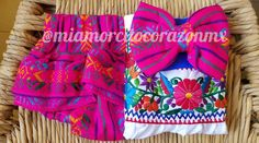 Mexican outfit baby bloomers and top mexican party first birthday day of the dead cinco de mayo uno fiesta cambaya first fiesta frida Mexican Blouse, Mexican Outfit, Baby Bloomers, Mexican Party, Embroidered Flowers, Outfit Sets, First Birthdays, To My Daughter, My Design