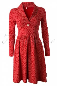 Blutsgeschwister - 60s Inupiat Red Ornaments Dress
