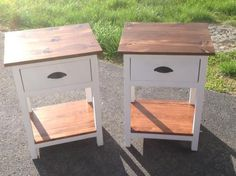 Farm house nighstands | Do It Yourself Home Projects from Ana White
