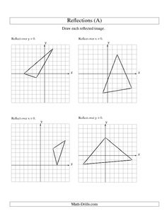 Worksheet Reflections Worksheet Geometry the ojays over and geometry worksheets on pinterest worksheet reflection of 3 vertices x or y axis a