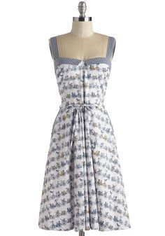 Wheely Cute Dress. Beach cruise the afternoon away in the effortless style of this printed sundress. #multi #modcloth