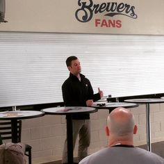 Matt Kleine, Brewers contracts manager, q&a at Baseball Prospectus Miller Park event!