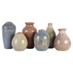 6 Piece Mira Vase Set