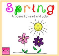 Spring Poem Student Book to read and pages! School Holiday Crafts, School Holidays, Spring Poem, Spring Art, Kindergarten Themes, Teaching Kindergarten, Language Activities, Literacy Activities, Literacy Work Stations