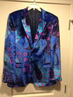 Tom Ford For Gucci Mens Vintage Floral Velvet Blazer 1994 Size 48