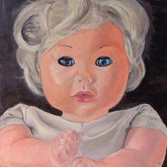 "Marinella Salvatrix Mundi (free from Antonello da Messina's ""Salvator Mundi""), oil on canvas, 30x30cm Messina, Paintings, Free, Paint, Painting Art, Draw, Painting, Portrait, Resim"