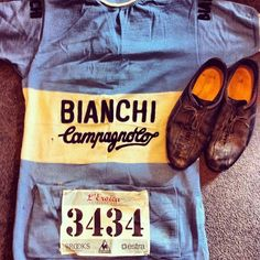 Bianchi Campagnolo vintage jersey worn for l'eroica