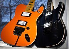 Two kickass sisters. Goth style brunette is Kononykheen Breed Ten. Redhead hype girl is Kononykheen Breed Eleven. Already available - check at www.kononykheen.com  #guitar #electricguitar #shredguitar #rareguitar #guitarra #uniqueguitar #mapleneck #guitarphotography #guitarphoto #guitarporn #lockingtremolo #collectibleguitar #guitarcollection #sixstrings #knowyourtone #geartalk