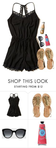 """""""Smile even though you're sad"""" by labures on Polyvore featuring Hollister Co., Cocobelle, Gucci and L'Occitane"""