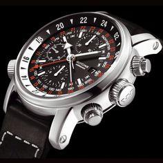 Glycine Airman Chrono 08 Edition Limitée à 500p Homme Automatique Cuir Montres Neuves Etoile d'or montre...