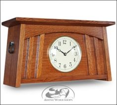 Arts and Crafts Mantel Clocks   McCoy Mission Mantle Clock - Product Image