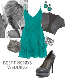 Best Friend's Wedding - Classy Teal, created by sepperson on Polyvore