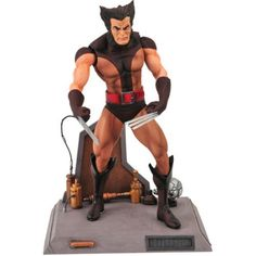 Diamond Select Toys Marvel Select Unmasked Wolverine Figure, Multicolor