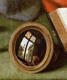 Quentin Massys - El cambista y su mujer, 1514. Detalle.
