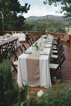 outdoor porch wedding reception http://www.weddingchicks.com/2013/11/27/comfortable-california-wedding/