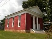 Old Baptist Church    This brick Jeffersonian Greek Revival structure was built in 1845. It has a very finished interior with some fine woodwork and original lighting fixtures. The black Baptist congregation of Union, organized by the Rev. Charles Campbell, acquired this handsome church in 1872. . [Businesses - Churches > Baptist] [Tourism - > History]  www.wvyourway.com  Union,WV