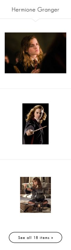 """""""Hermione Granger"""" by penguinluv-er ❤ liked on Polyvore featuring harry potter, emma watson, hermione granger, hp, pictures, people, celebs, icons, hermione and hermione jean granger"""