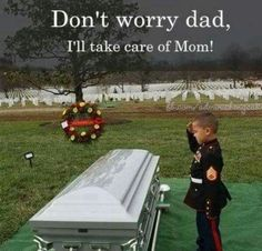 GOD Please BLESS this little one & his family........And all our fallen Soldiers & their families.