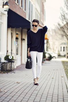 white jeans done right.