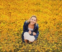 senior photo- flowers